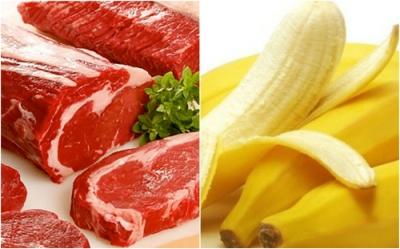 Thực đơn với thịt bò và chuối tiêu tốt cho người tập gym